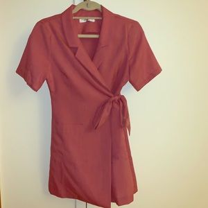 Storets mauve wrap collar dress